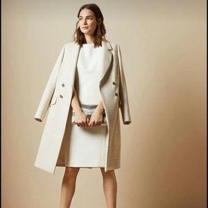 TED BAKER NWOT 12 Ivory sheath dress